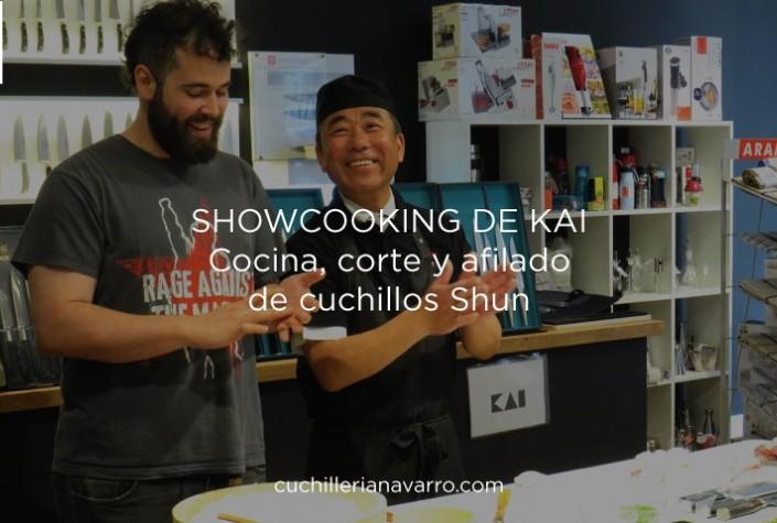 Showcooking de KAI en Cuchillería Navarro